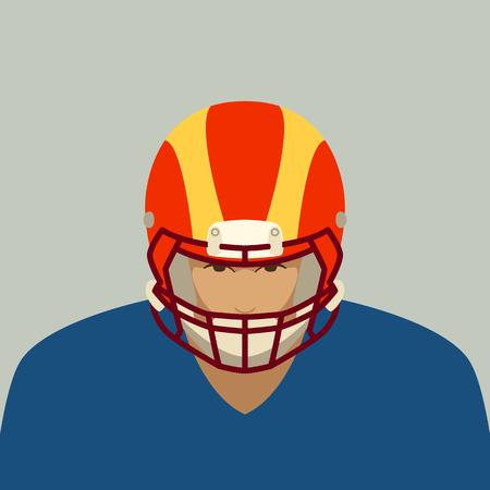 ein Spieler des American Football, Vektorillustration, flacher Stil?
