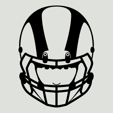 a player of American football, vector illustration , front view Ilustração