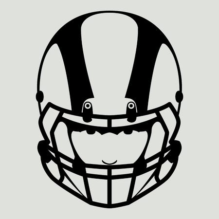 a player of American football, vector illustration , front view Illusztráció