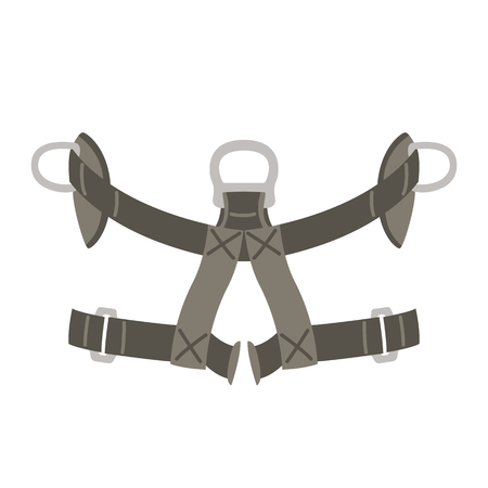 safety belt, vector illustration ,flat style front view