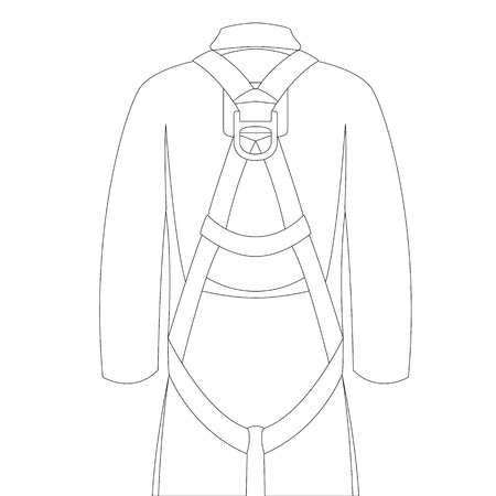 safety belt, vector illustration , lining draw front view 일러스트