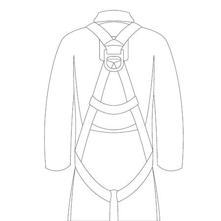 safety belt, vector illustration , lining draw front view Illusztráció