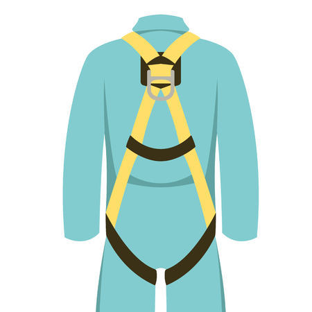 safety belt, vector illustration ,  flat style  front view