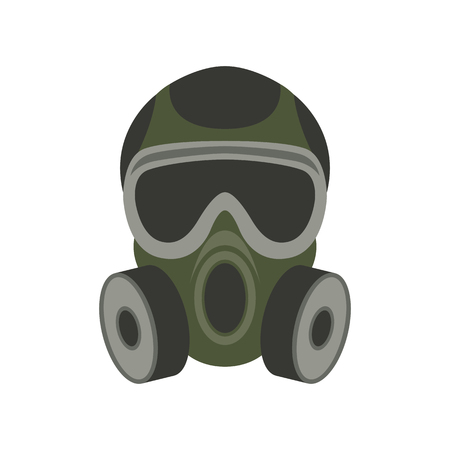 gas mask, vector illustration , flat style Vectores