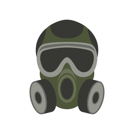 máscara de gas, ilustración vectorial, estilo plano