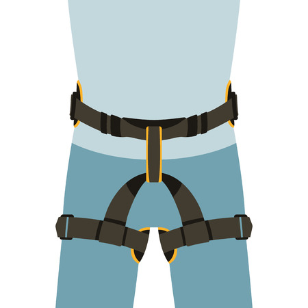 worker safety belts , vector illustration , flat style  イラスト・ベクター素材