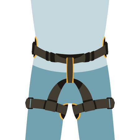 worker safety belts , vector illustration , flat style Illusztráció