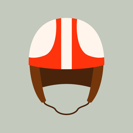 motorcycle helmet vector illustration ,flat style,front side Illustration