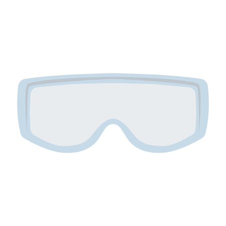 goggles , vector illustration , flat style Ilustração