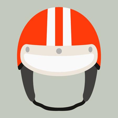 motorcycle helmet vector illustration ,flat style,front side Illusztráció