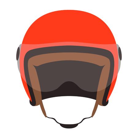motorcycle helmet vector illustration ,flat style,front side Ilustração