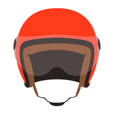 motorcycle helmet vector illustration ,flat style,front side 일러스트