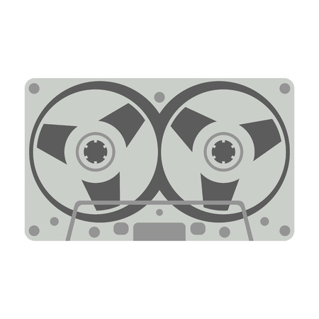 compact cassette, vector illustration , flat style