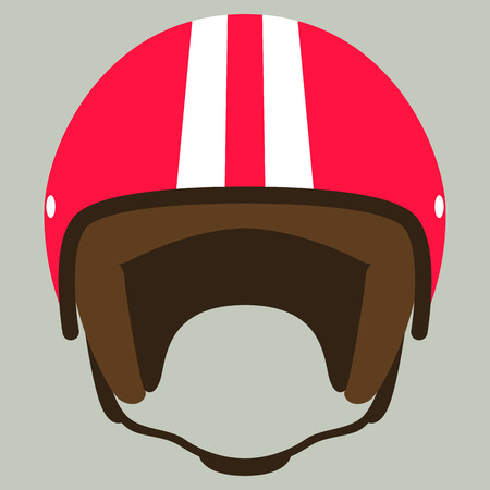 motorcycle helmet vector illustration ,flat style,front side  イラスト・ベクター素材