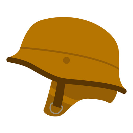 motorcycle helmet vintage ,vector illustration , flat style
