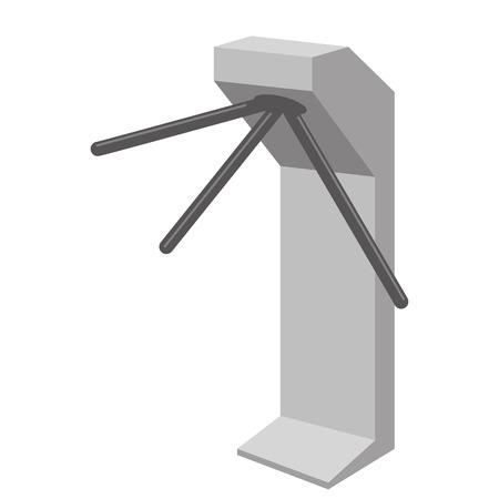 illustration vectorielle de tourniquet, style plat, vue de profil