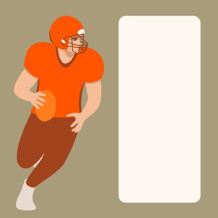 american football player ,vector illustratuon ,flat style Illusztráció