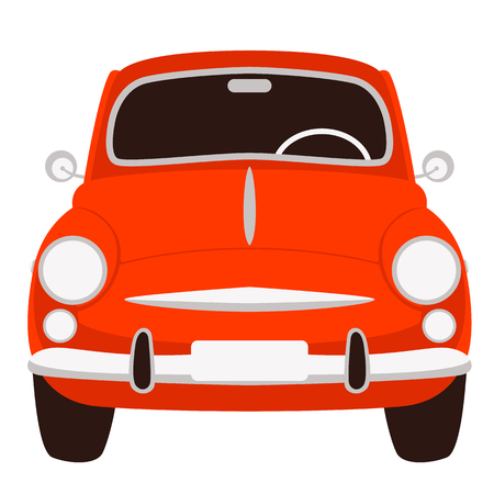 old vintage car ,vector illustration ,flat style ,front side Vektorové ilustrace