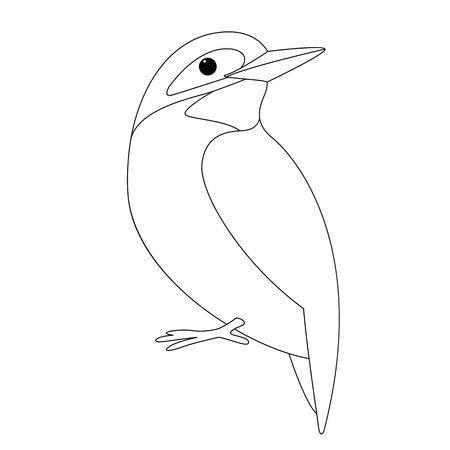 Vogel-Eisvogel, Vektor-Illustration, Futter zeichnen, Profil