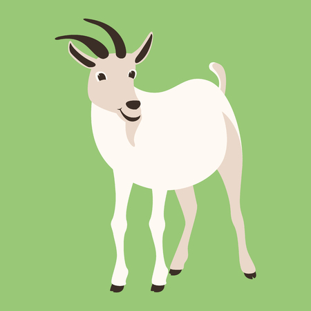 goat  vector illustration , flat style ,profile view 写真素材 - 114955393