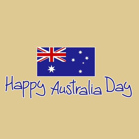 flag of Australia vector illustration , happy australia day