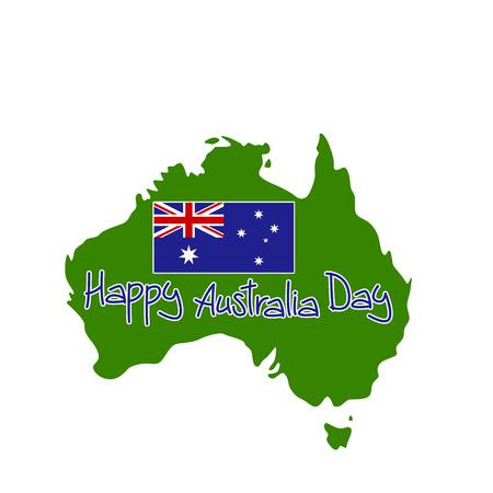 map of Australia vector illustration , happy australia day Çizim