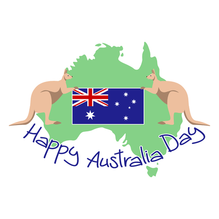map of Australia vector illustration , happy australia day Illustration