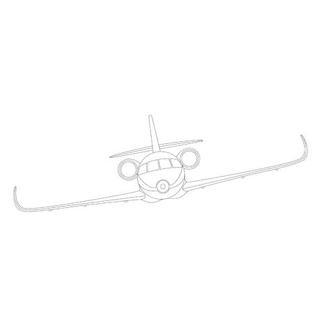 avion à réaction, illustration vectorielle , doublure, face avant