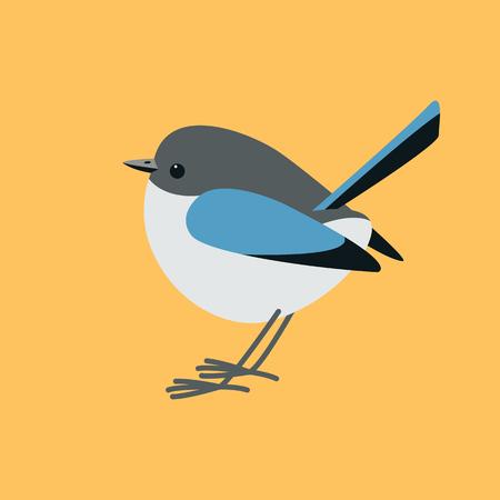 eastern bluebird  ,vector illustration ,flat style ,profile view Standard-Bild - 122778694