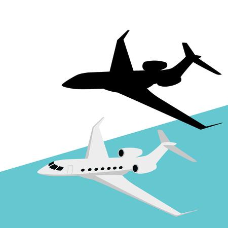 set jetliner ,vector illustration ,   flat style, profile view Illustration