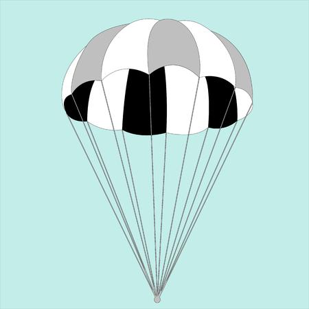 Fallschirm, Vektorillustration, flacher Stil, Vorderansicht?
