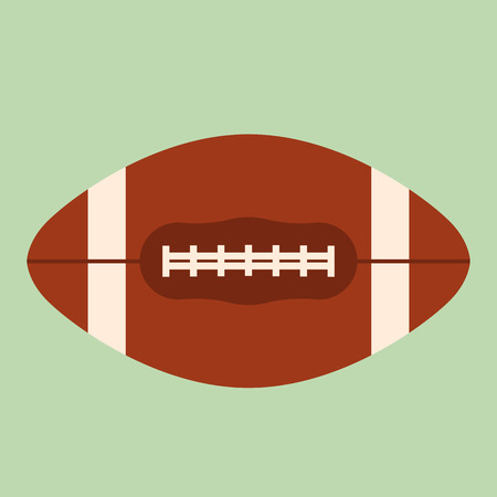 rugby ball , vector illustration, flat style