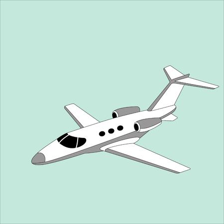 jet airliner, vector illustration ,lining draw, side view Illustration