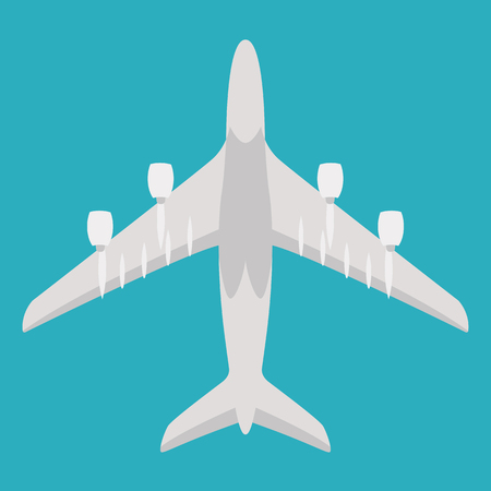large passenger plane ,vector illustration, flat style