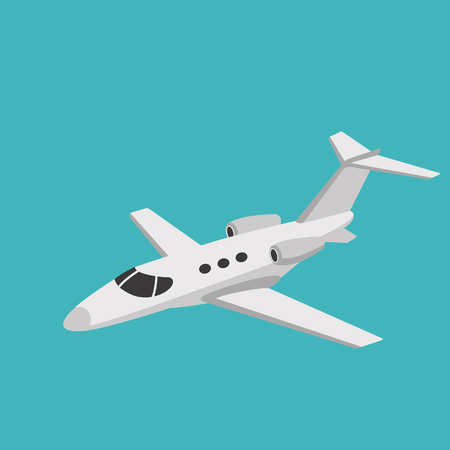 jet airliner, vector illustration ,flat style, side view