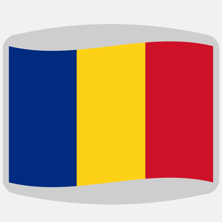 flag of Romania,  vector illustration, flat style 向量圖像
