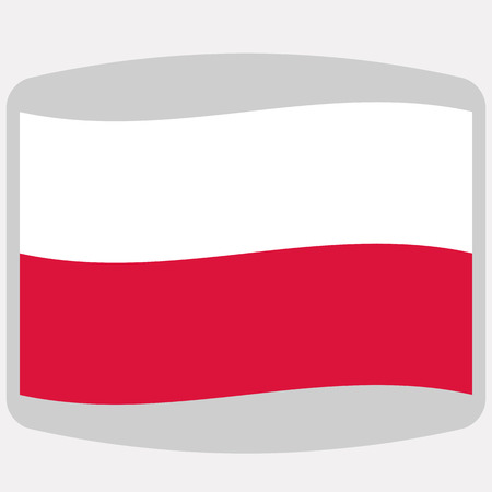 Flag of Poland,  vector illustration, flat style  イラスト・ベクター素材