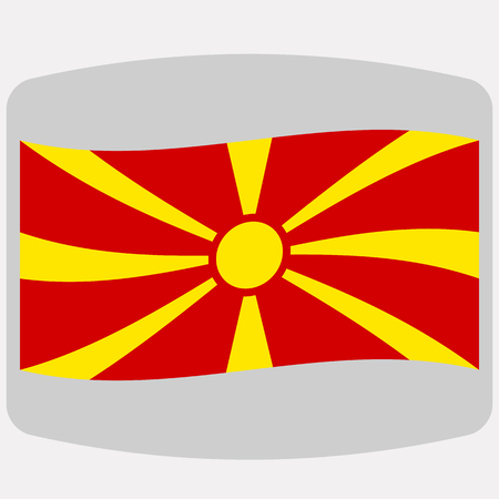 Flag of Macedonia,  vector illustration, flat style