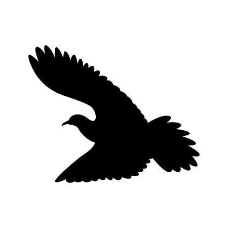 dove.vector illustration,  black silhouette ,profile view