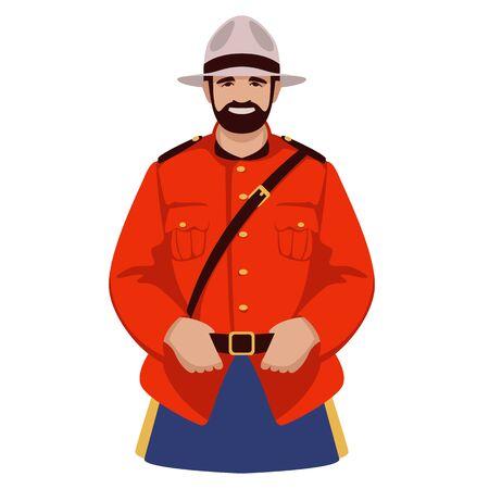 canadian ranger ,vector illustration, front view 일러스트