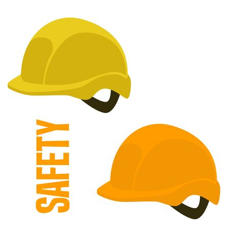safety helmet,vector illustration,flat style,set