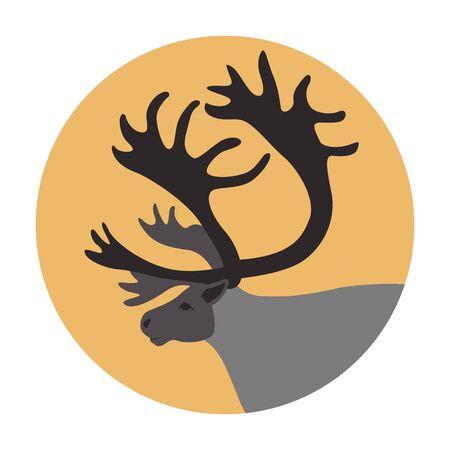 polar deer head,vector illustration, flat style 일러스트