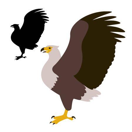 eagle vector illustration, black silhouette,profile view
