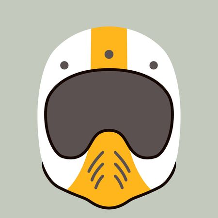 motorcycle helmet, vector illustration,flat style , front view Ilustrace