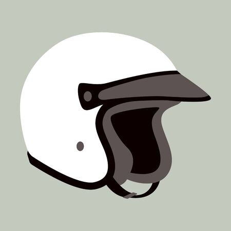motorcycle helmet, vector illustration,flat style , profile view 일러스트