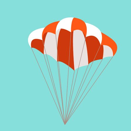 parachute, vector illustration, flat style, front side