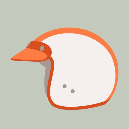 motorcycle helmets, vector illustration, flat style , profile view