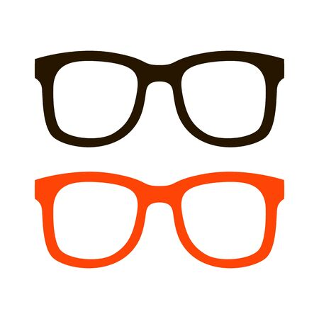 eyeglass frames black,vector illustration,flat style,set 일러스트