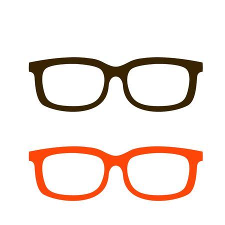 eyeglass frames black,vector illustration,flat style,set