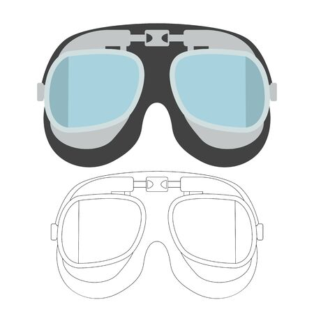 vintage goggles vector illustration , flat style, lining draw 일러스트